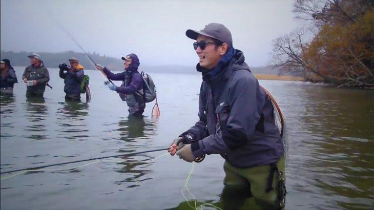 フライフィッシングの楽しさ(Fly Fishing movie in The Lake Akan)